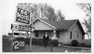Old photo of the 66 Motel
