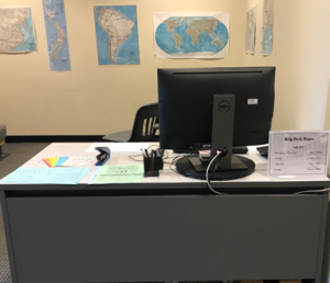 Photo of the Lower Level Help Desk