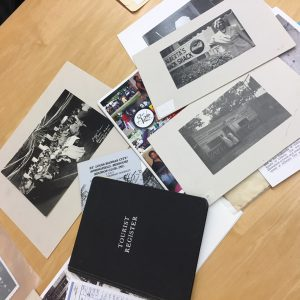 Photo of special collections materials