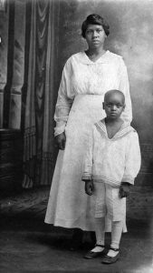 Old photo of two African Americans